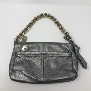 B. Makowsky silver leather purse